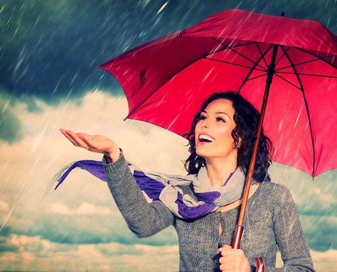 Le parapluie accessoire a la mode